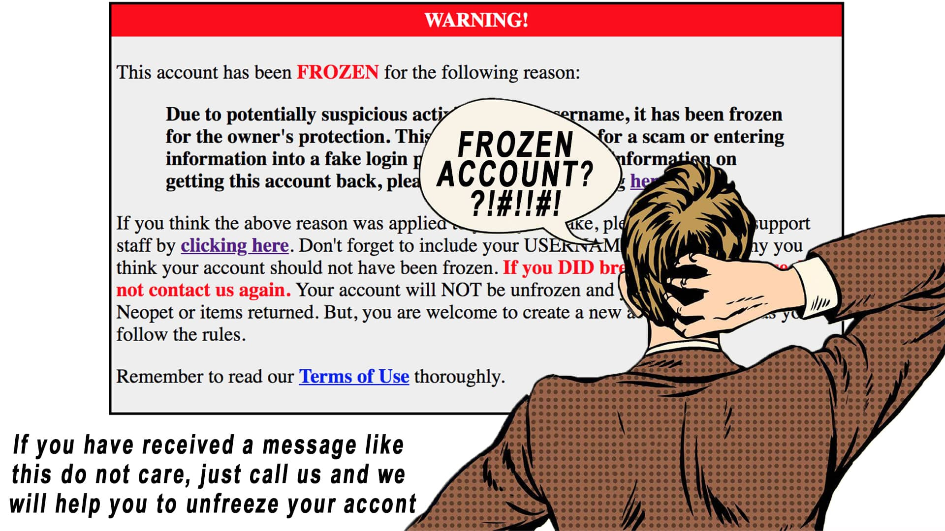 What to do about frozen accounts