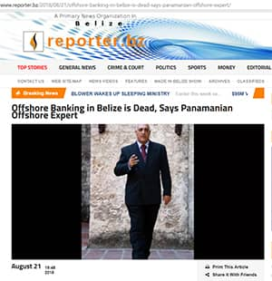 Offshore Banking in Belize is Dead, Says Panamanian Offshore Expert